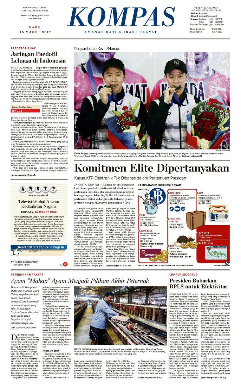 Koran Digital KOMPAS [Pagi] 15 Maret 2017