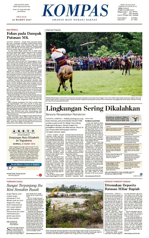 Koran Digital KOMPAS [Pagi] 21 Maret 2017