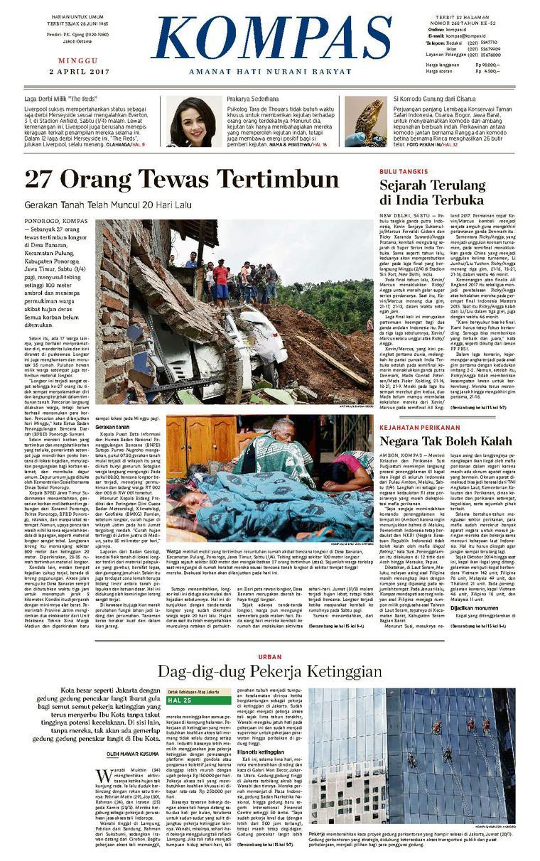 Koran Digital KOMPAS [Pagi] 02 April 2017