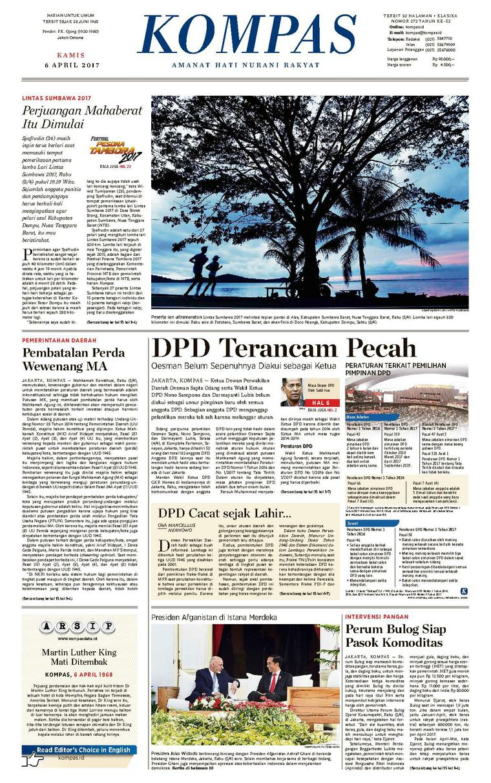 Koran Digital KOMPAS [Pagi] 06 April 2017