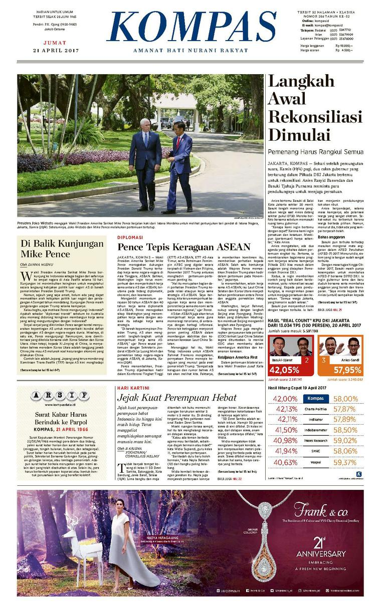 Koran Digital KOMPAS [Pagi] 21 April 2017