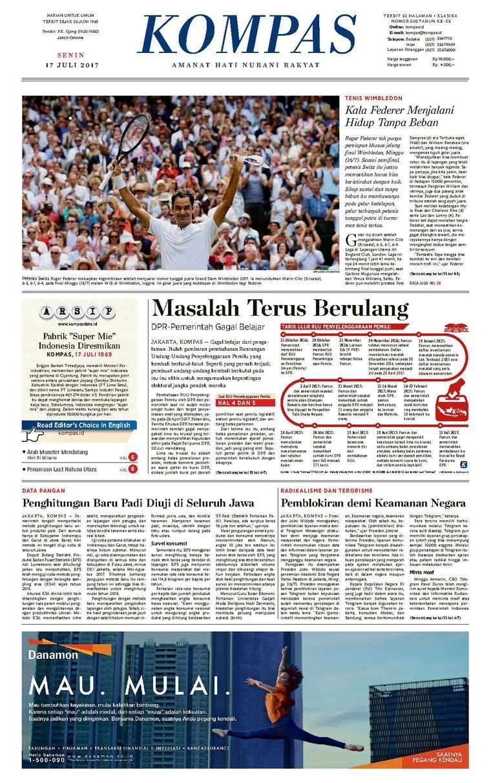 Koran Digital KOMPAS [Pagi] 17 Juli 2017