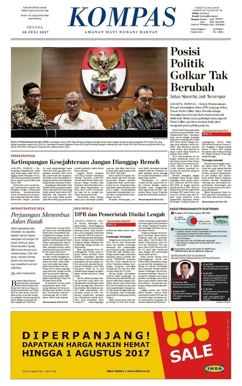 Koran Digital KOMPAS [Pagi] 18 Juli 2017