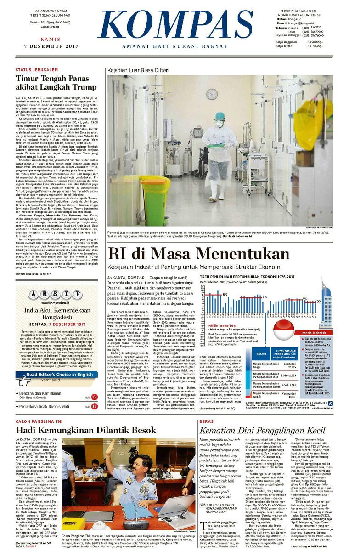 Koran Digital KOMPAS [Pagi] 07 Desember 2017