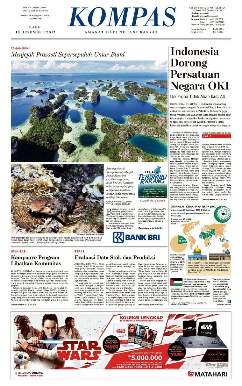 Koran Digital KOMPAS [Pagi] 13 Desember 2017