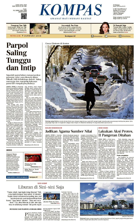 KOMPAS Digital Newspaper [Pagi] 07 January 2018