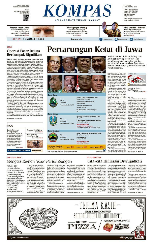 KOMPAS Digital Newspaper [Pagi] 08 January 2018