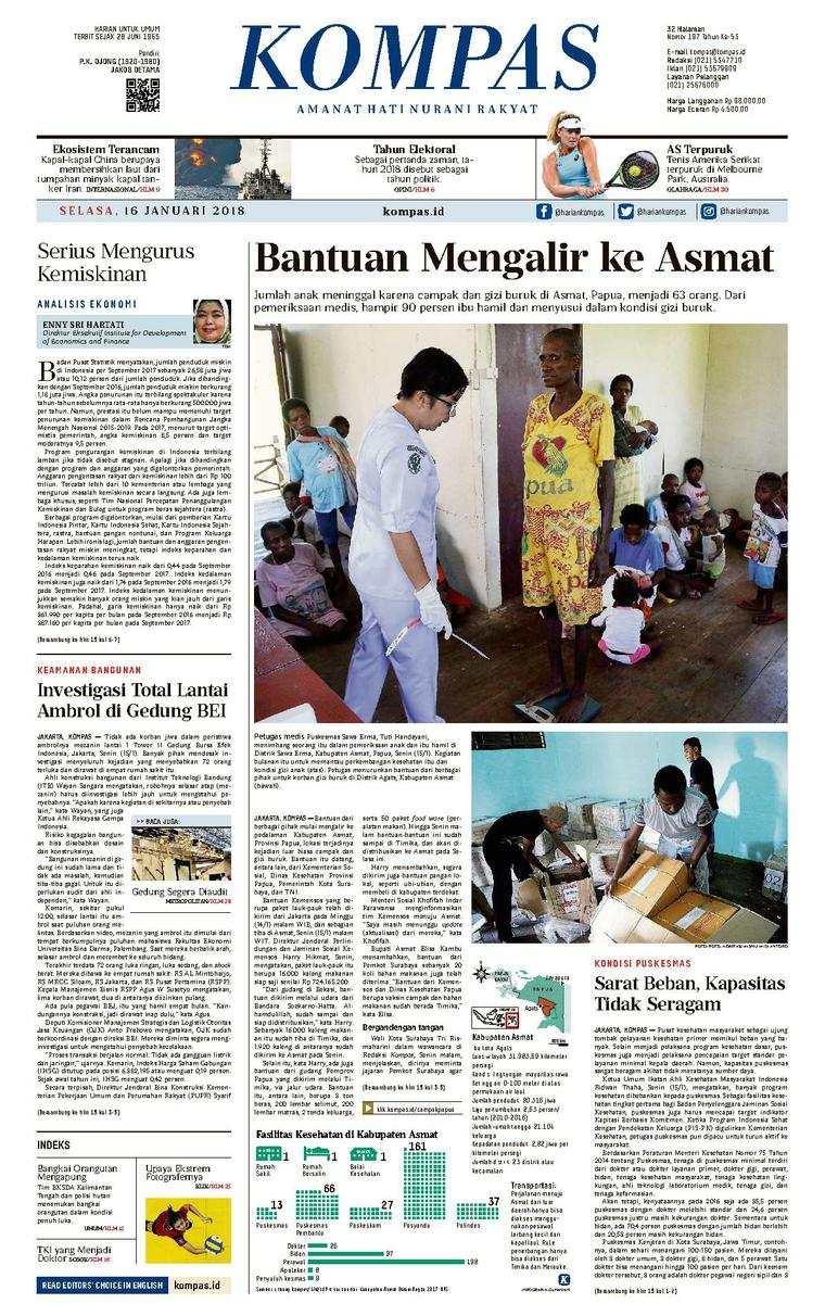 KOMPAS Digital Newspaper [Pagi] 16 January 2018