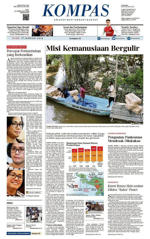 KOMPAS Digital Newspaper [Pagi] 17 January 2018