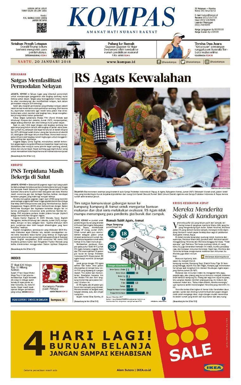 KOMPAS Digital Newspaper [Pagi] 20 January 2018