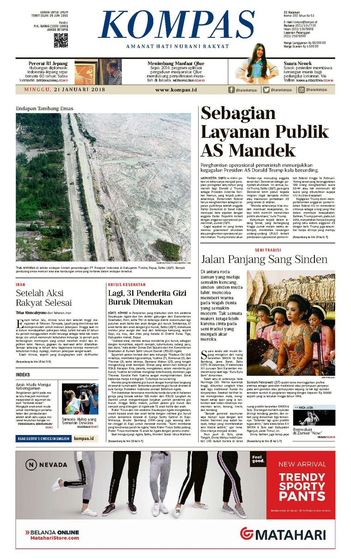 KOMPAS Digital Newspaper [Pagi] 21 January 2018