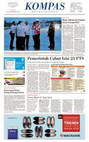 KOMPAS Cover [Pagi] 13 October 2017