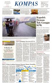 KOMPAS Cover [Pagi] 21 October 2017