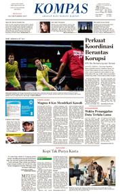 KOMPAS Cover [Pagi] 22 October 2017