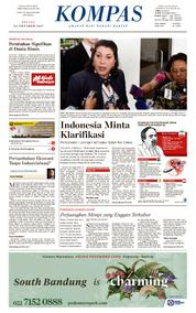 KOMPAS Cover [Pagi] 24 October 2017