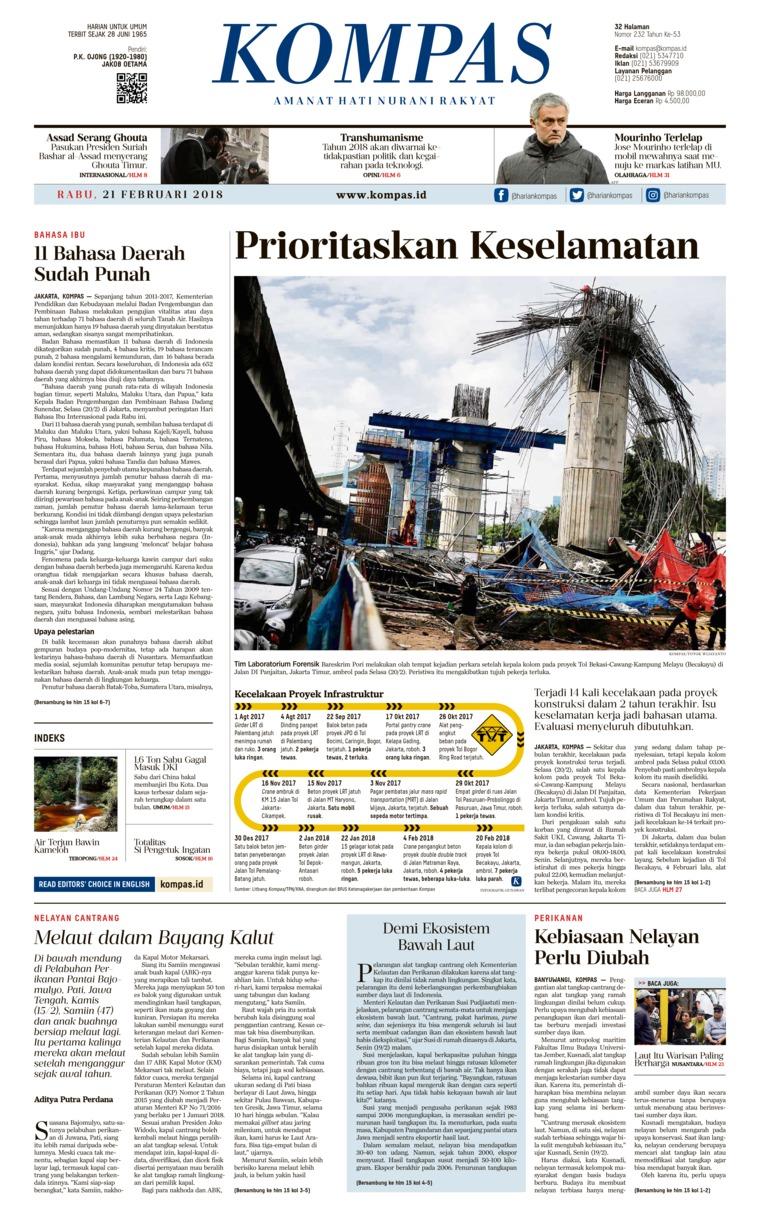 Koran Digital KOMPAS [Pagi] 21 Februari 2018