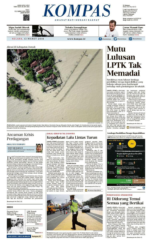 Koran Digital KOMPAS [Pagi] 13 Maret 2018