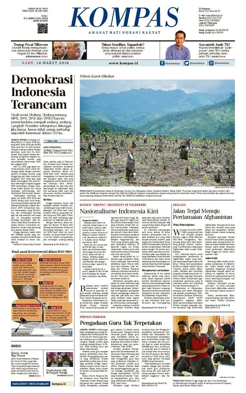 Koran Digital KOMPAS [Pagi] 14 Maret 2018