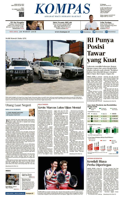 Koran Digital KOMPAS [Pagi] 20 Maret 2018