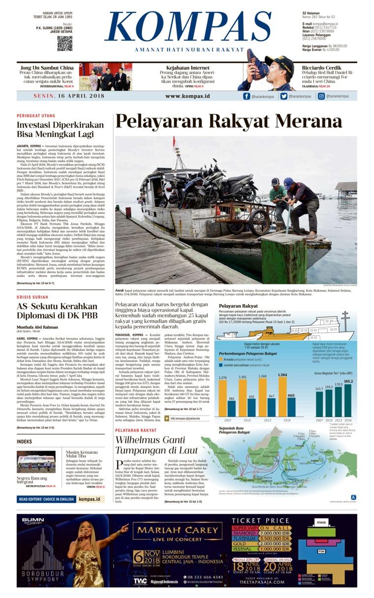 Koran Digital KOMPAS 16 April 2018