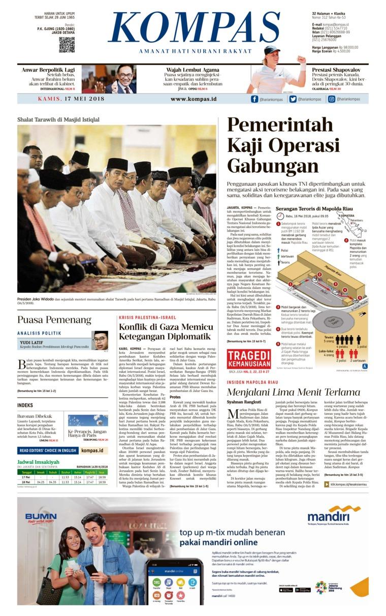 Koran Digital KOMPAS 17 Mei 2018