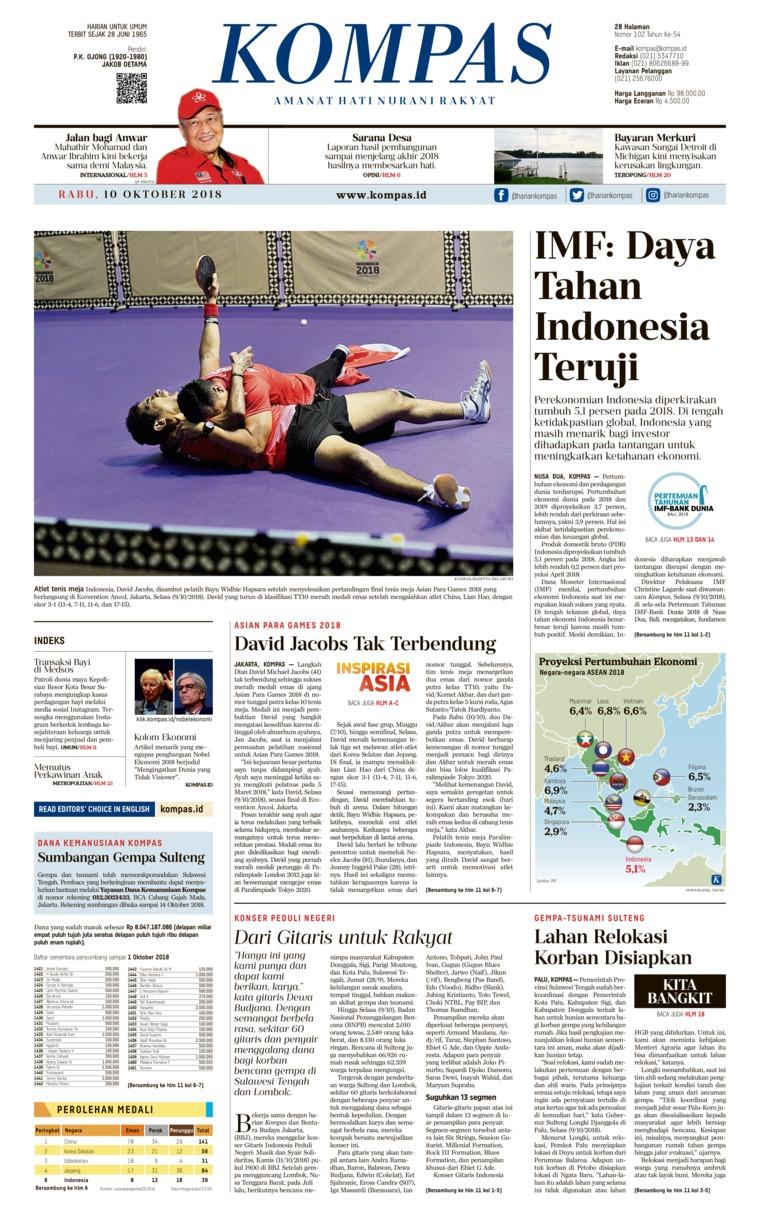 Koran Digital KOMPAS 10 Oktober 2018