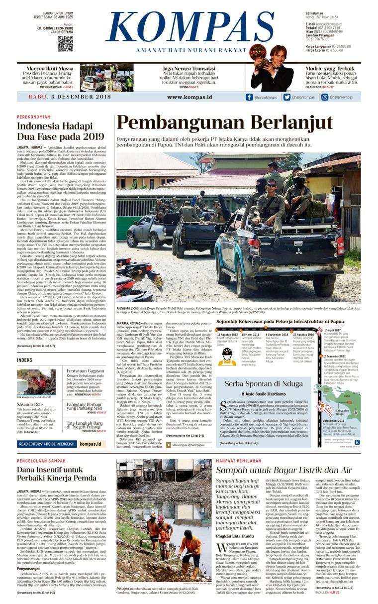 KOMPAS Digital Newspaper 05 December 2018