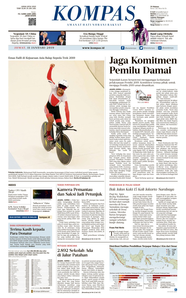 KOMPAS Digital Newspaper 11 January 2019