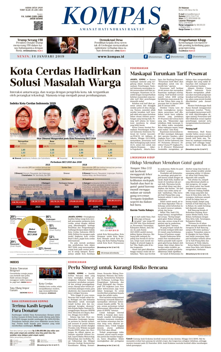 Koran Digital KOMPAS 14 Januari 2019