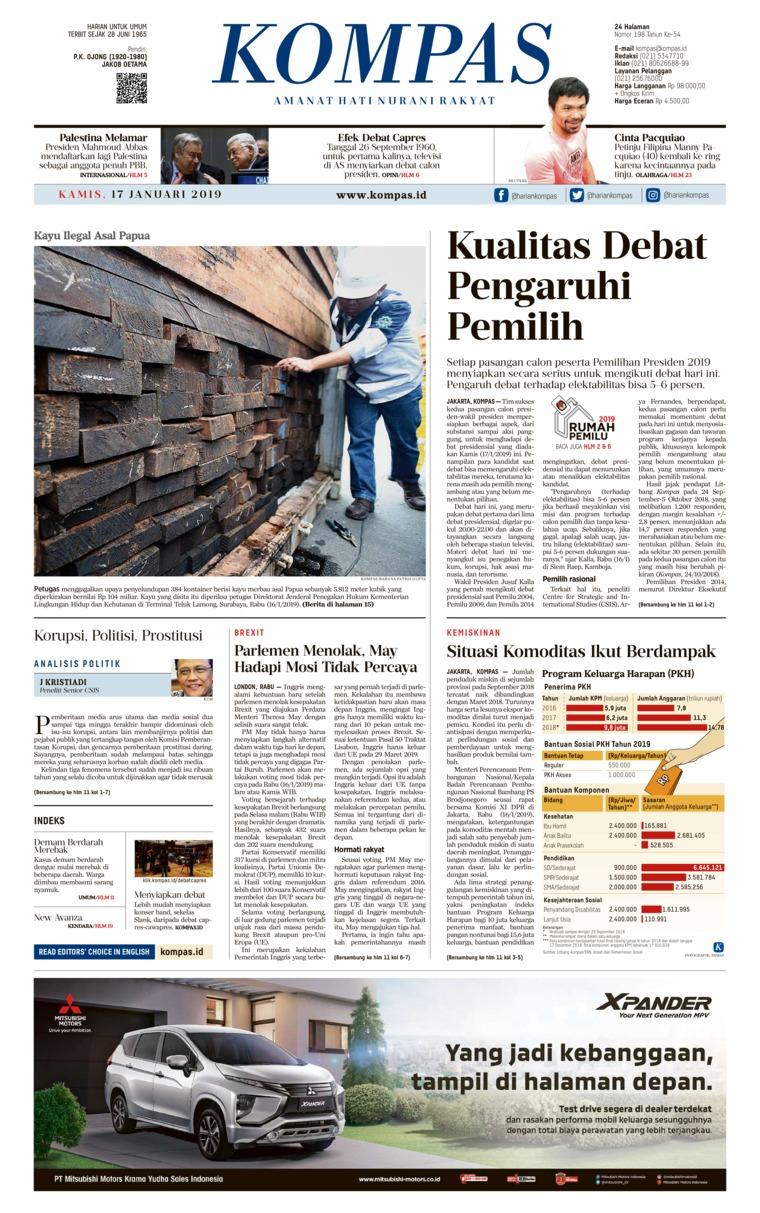Koran Digital KOMPAS 17 Januari 2019