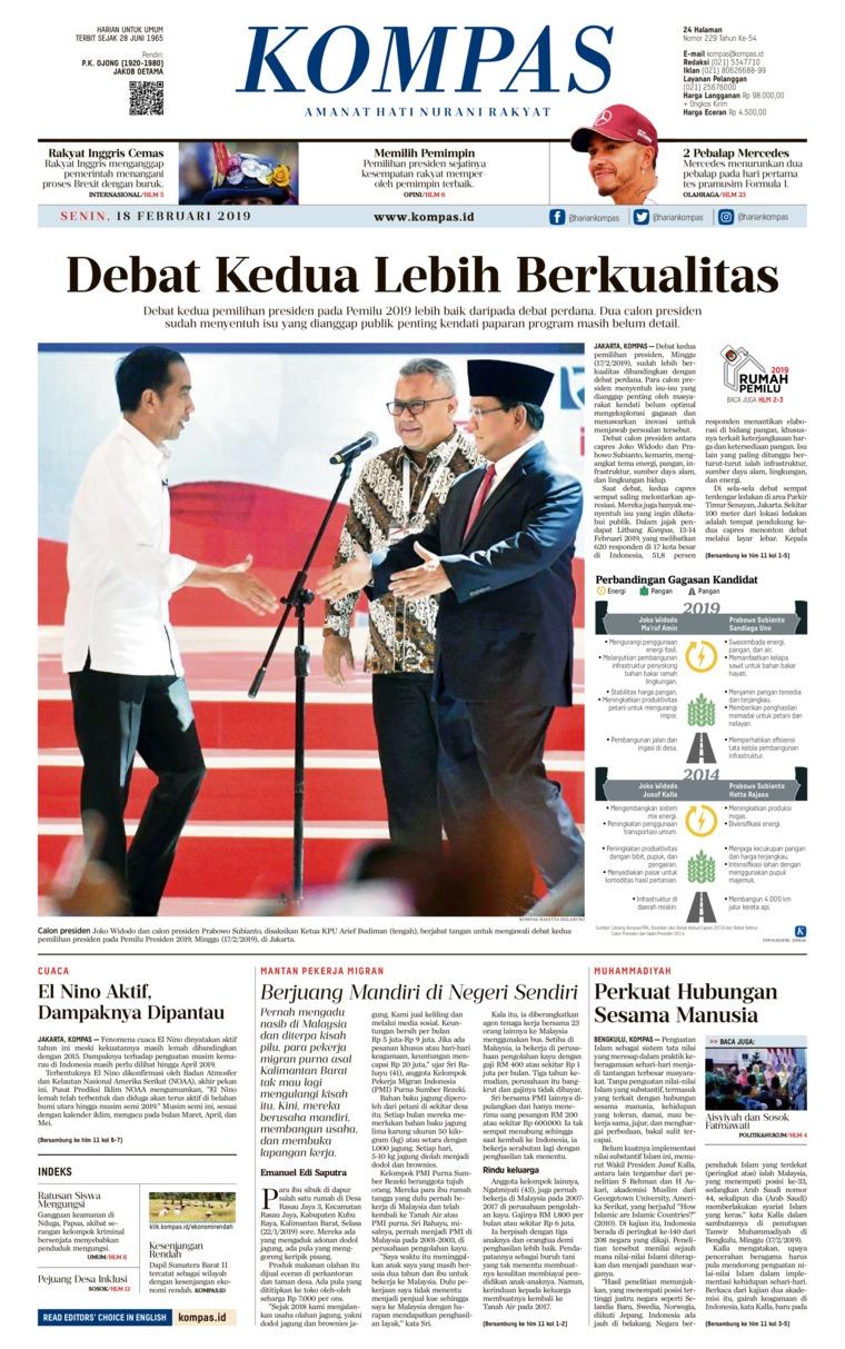 Koran Digital KOMPAS 18 Februari 2019
