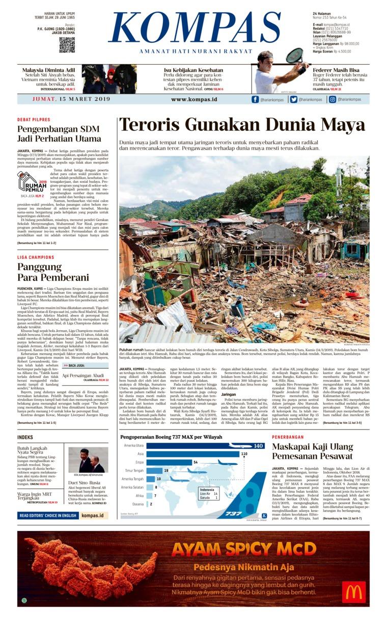Koran Digital KOMPAS 15 Maret 2019