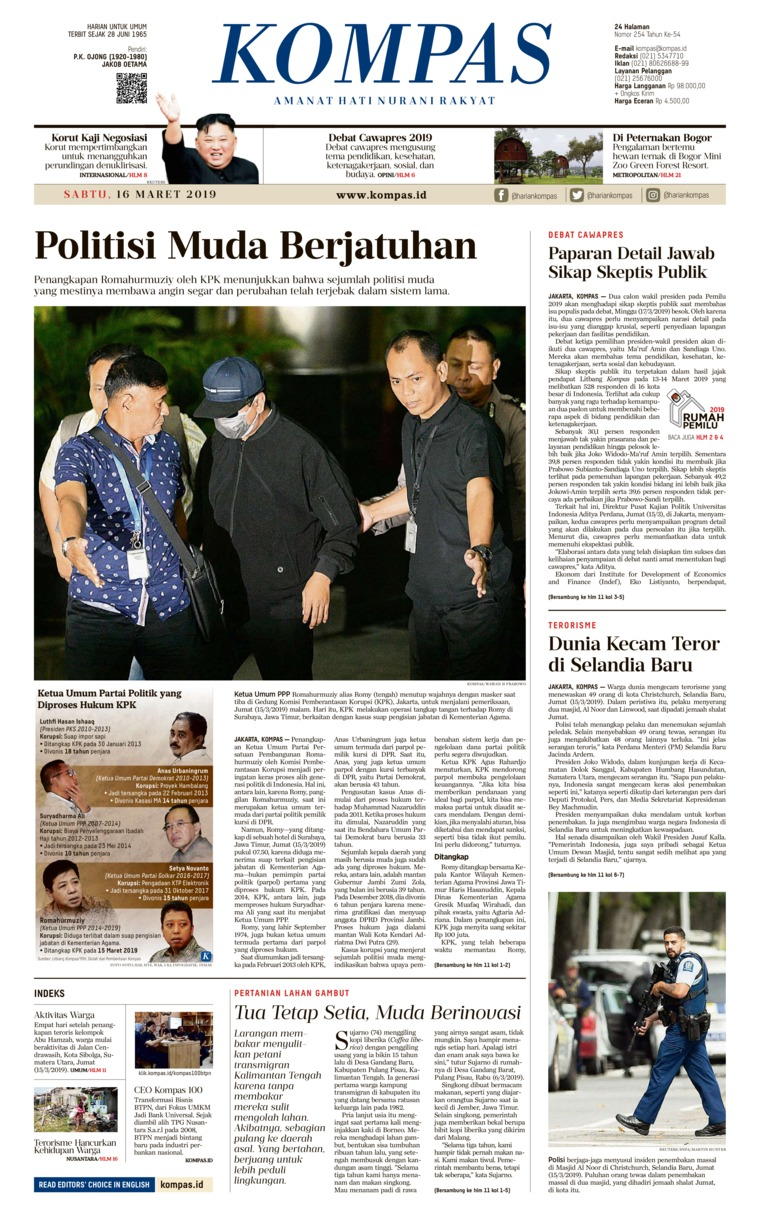 Koran Digital KOMPAS 16 Maret 2019