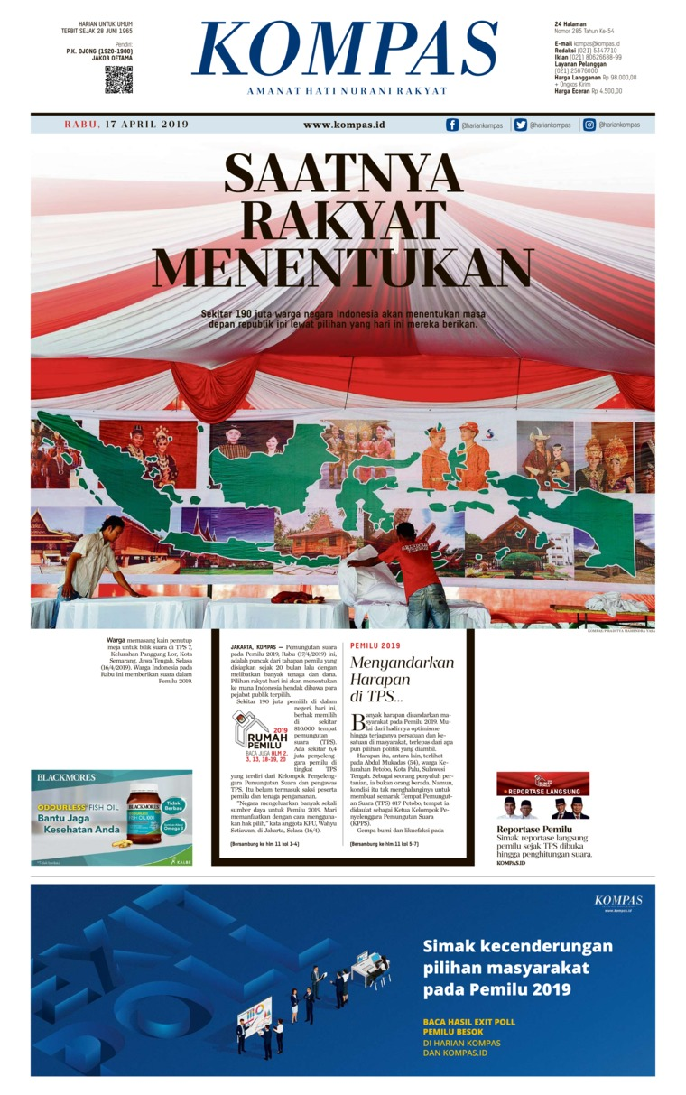 Koran Digital KOMPAS 17 April 2019