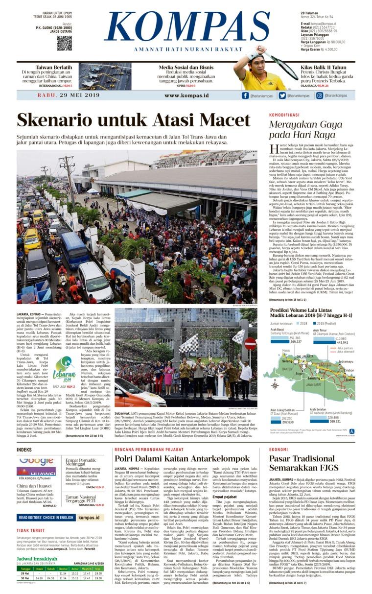 Koran Digital KOMPAS 29 Mei 2019