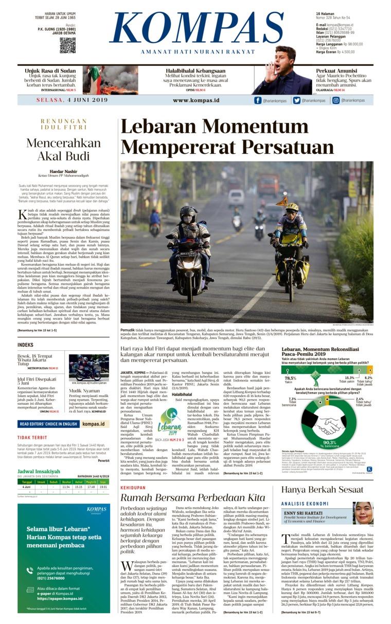 Koran Digital KOMPAS 04 Juni 2019