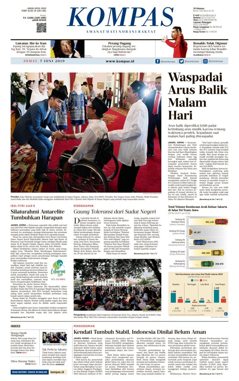 Koran Digital KOMPAS 07 Juni 2019
