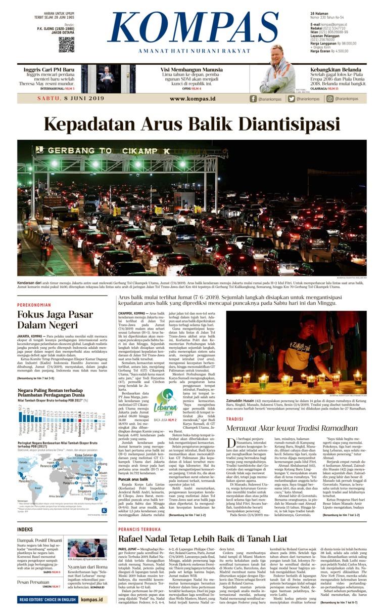 Koran Digital KOMPAS 08 Juni 2019