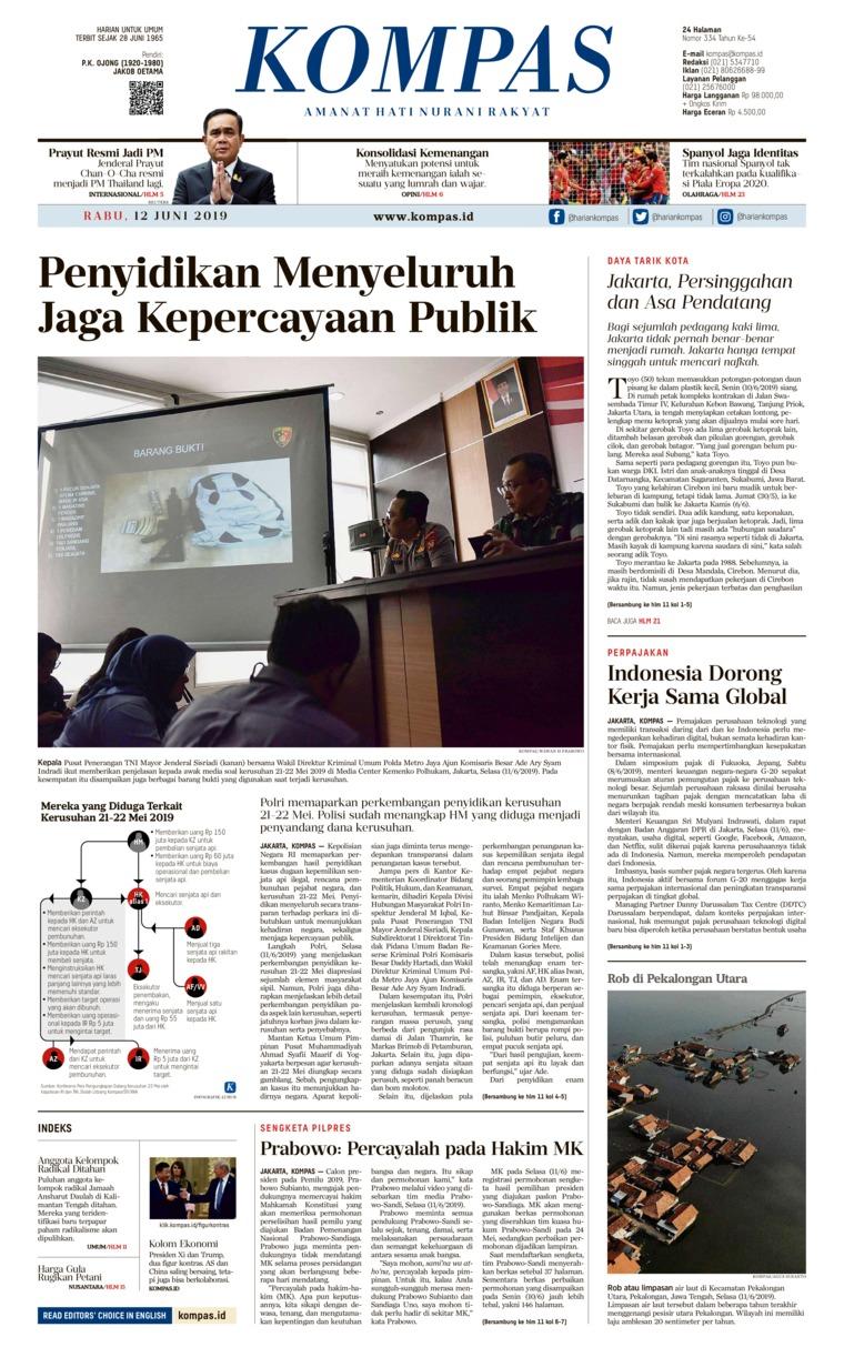 Koran Digital KOMPAS 12 Juni 2019