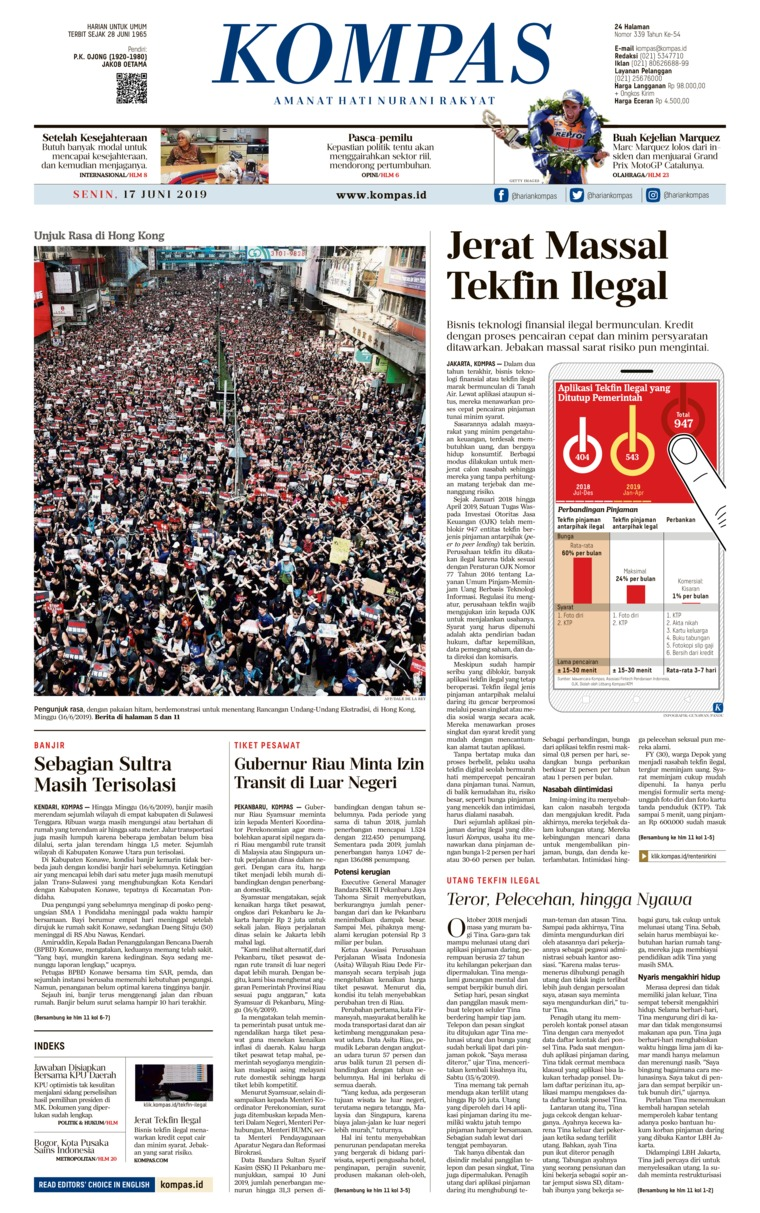KOMPAS Digital Newspaper 17 June 2019