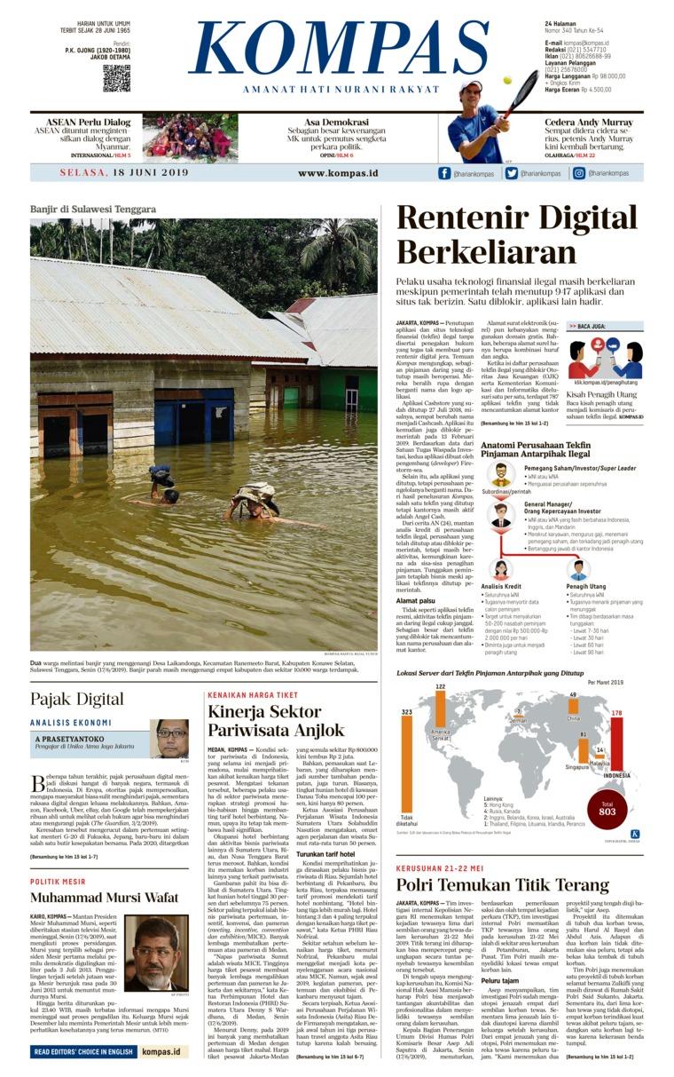 KOMPAS Digital Newspaper 18 June 2019