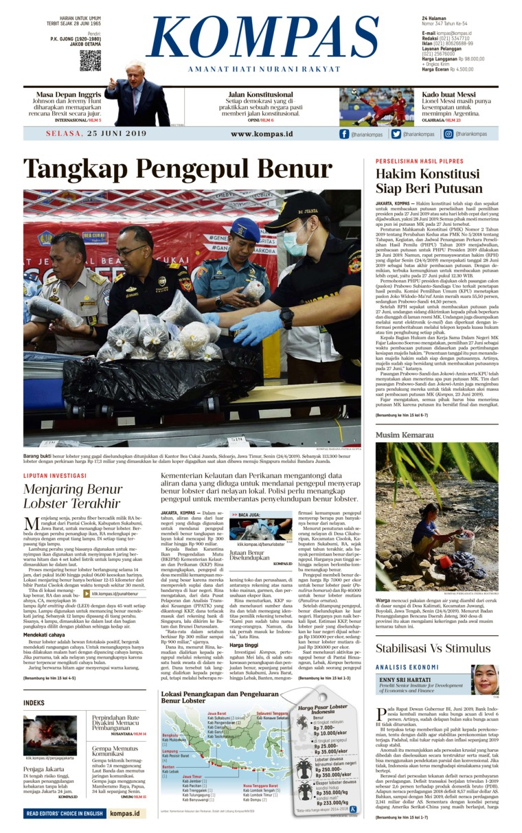 KOMPAS Digital Newspaper 25 June 2019