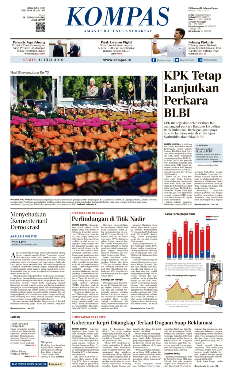 Koran Digital KOMPAS 11 Juli 2019