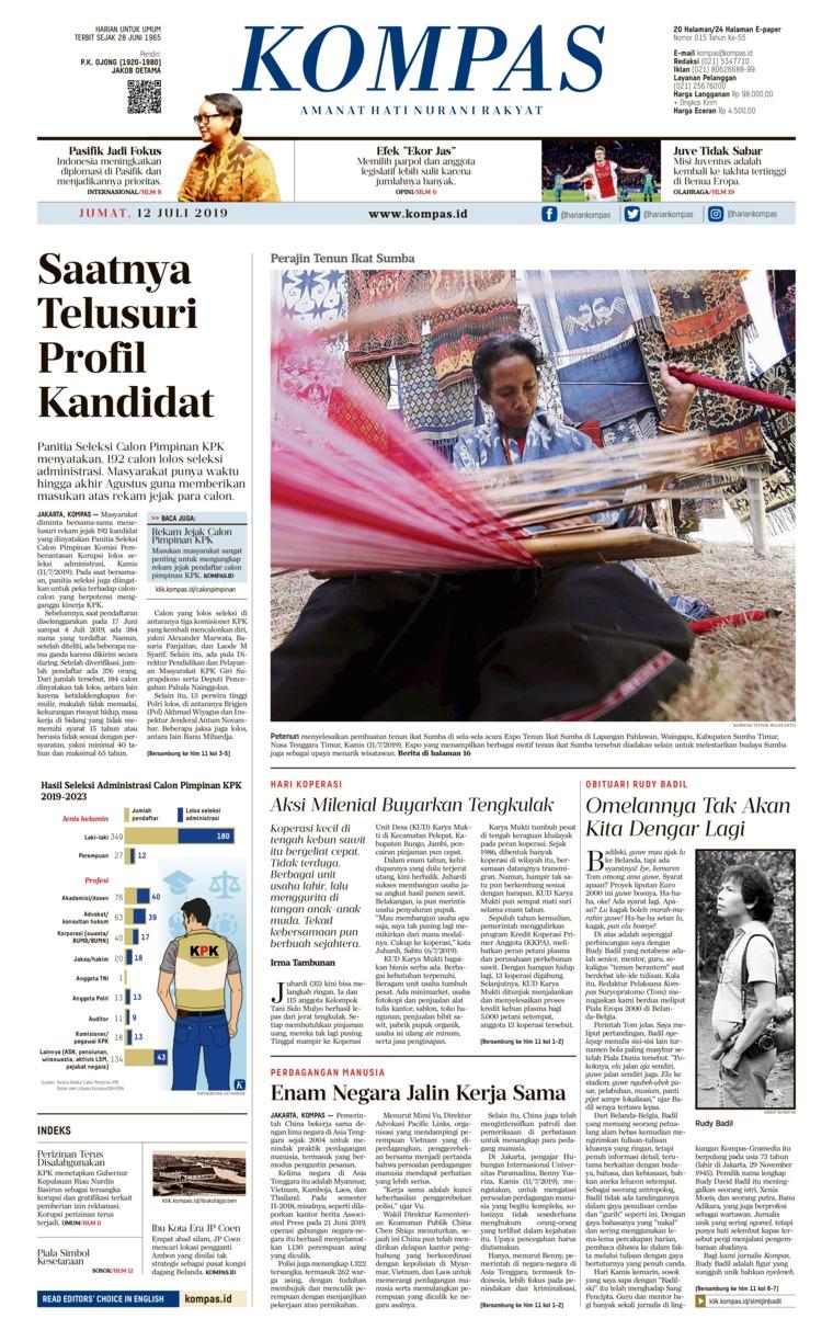 Koran Digital KOMPAS 12 Juli 2019