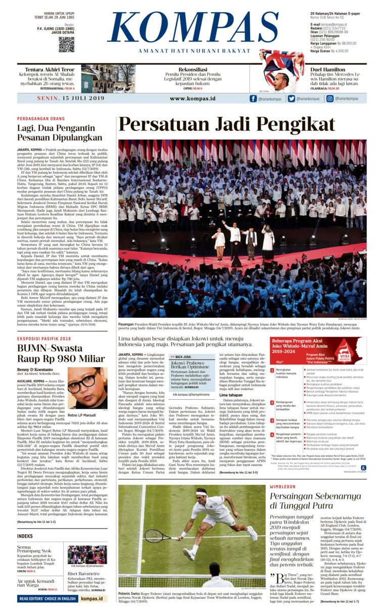 Koran Digital KOMPAS 15 Juli 2019