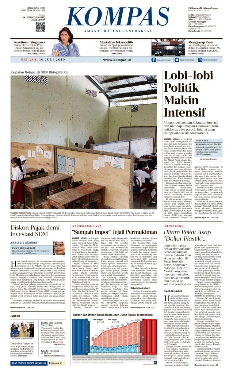 KOMPAS Digital Newspaper 16 July 2019