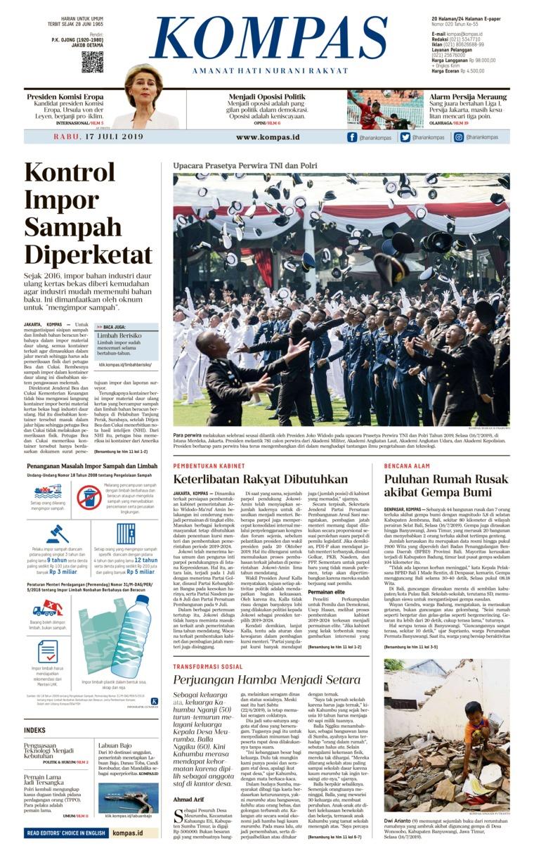 KOMPAS Digital Newspaper 17 July 2019