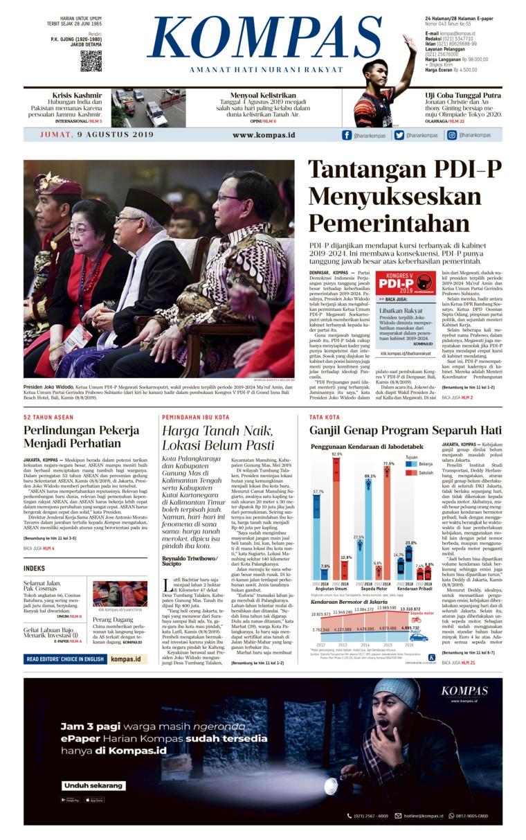 Koran Digital KOMPAS 09 Agustus 2019