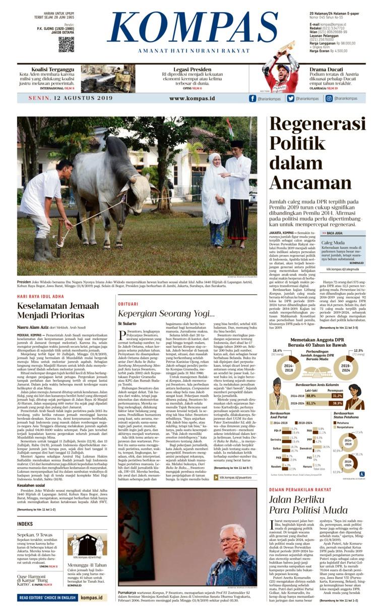 KOMPAS Digital Newspaper 12 August 2019