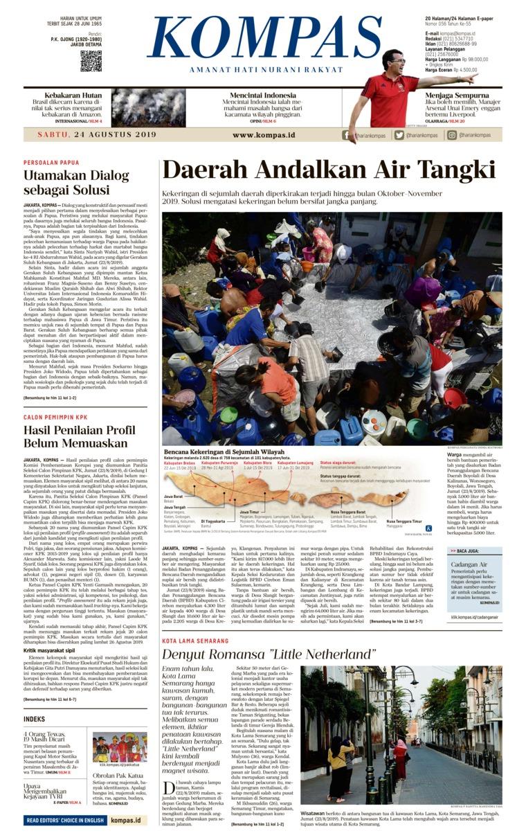 KOMPAS Digital Newspaper 24 August 2019